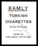 1909 T204 Ramly Reprint #47  Jerry Freeman  Back Thumbnail