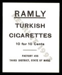 1909 T204 Ramly Reprint #89  Harry Niles  Back Thumbnail