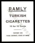 1909 T204 Ramly Reprint #16  Roger Bresnahan  Back Thumbnail