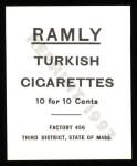 1909 T204 Ramly Reprint #26  Otis Clymer  Back Thumbnail
