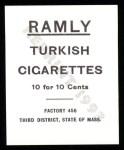 1909 T204 Ramly Reprint #94  Jack Pfeister  Back Thumbnail