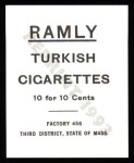 1909 T204 Ramly Reprint #79  Fred Merkle  Back Thumbnail