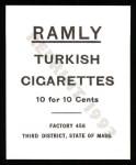 1909 T204 Ramly Reprint #27  Andrew Coakley  Back Thumbnail