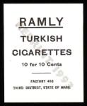 1909 T204 Ramly Reprint #14  Frank Bowerman  Back Thumbnail