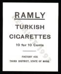 1909 T204 Ramly Reprint #76  Moose McCormick  Back Thumbnail