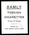 1909 T204 Ramly Reprint #84  Tim Murname  Back Thumbnail