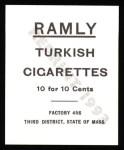 1909 T204 Ramly Reprint #55  Dick Hoblitzell  Back Thumbnail
