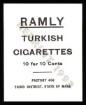 1909 T204 Ramly Reprint #15  Kitty Bransfield  Back Thumbnail