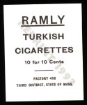 1909 T204 Ramly Reprint #63  Ed Kargar  Back Thumbnail