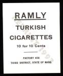 1909 T204 Ramly Reprint #29  Jimmy Collins  Back Thumbnail