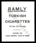 1909 T204 Ramly Reprint #23  Frank Chance  Back Thumbnail