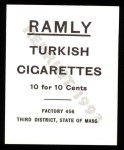 1909 T204 Ramly Reprint #117  Ira Thomas  Back Thumbnail