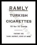 1909 T204 Ramly Reprint #109  Charlie Smith  Back Thumbnail