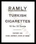 1909 T204 Ramly Reprint #83  Cy Morgan  Back Thumbnail