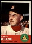 1963 Topps #166  Johnny Keane  Front Thumbnail