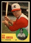 1963 Topps #282  Bobby Del Greco  Front Thumbnail