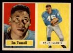 1957 Topps #35  Emlen Tunnell  Front Thumbnail
