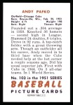1951 Bowman Reprints #103  Andy Pafko  Back Thumbnail