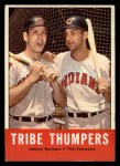 1963 Topps #392   -  Johnny Romano / Tito Francona Tribe Thumpers   Front Thumbnail