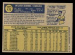 1970 O-Pee-Chee #470  Willie Stargell  Back Thumbnail