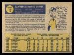 1970 O-Pee-Chee #15  Larry Dierker  Back Thumbnail