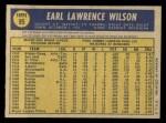 1970 O-Pee-Chee #95  Earl Wilson  Back Thumbnail