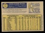 1970 O-Pee-Chee #114  Gene Michael  Back Thumbnail