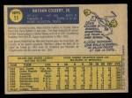 1970 O-Pee-Chee #11  Nate Colbert  Back Thumbnail