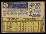 1970 O-Pee-Chee #34  Willie Crawford  Back Thumbnail