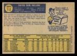 1970 O-Pee-Chee #112  Dave Nelson  Back Thumbnail