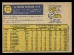 1970 O-Pee-Chee #144  Ray Culp  Back Thumbnail