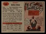 1957 Topps #54  Gordon Soltau  Back Thumbnail