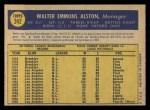 1970 O-Pee-Chee #242  Walt Alston  Back Thumbnail