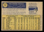 1970 O-Pee-Chee #258  Paul Popovich  Back Thumbnail