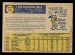 1970 O-Pee-Chee #169  Tom Hall  Back Thumbnail