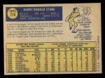 1970 O-Pee-Chee #218  Ron Stone  Back Thumbnail