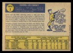 1970 O-Pee-Chee #3  Darrel Chaney  Back Thumbnail
