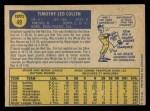 1970 O-Pee-Chee #49  Tim Cullen  Back Thumbnail