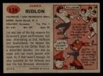 1957 Topps #139  Jim Ridlon  Back Thumbnail