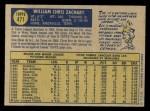 1970 O-Pee-Chee #471  Chris Zachary  Back Thumbnail