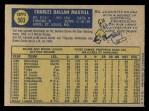 1970 O-Pee-Chee #503  Dal Maxvill  Back Thumbnail