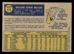 1970 O-Pee-Chee #518  Bill Melton  Back Thumbnail