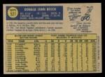 1970 O-Pee-Chee #527  Don Bosch  Back Thumbnail