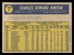 1970 O-Pee-Chee #27  Chuck Hinton  Back Thumbnail