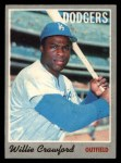 1970 O-Pee-Chee #34  Willie Crawford  Front Thumbnail