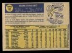 1970 O-Pee-Chee #82  Frank Fernandez  Back Thumbnail
