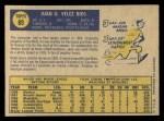 1970 O-Pee-Chee #89  Juan Rios  Back Thumbnail