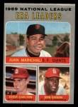 1970 O-Pee-Chee #67   -  Steve Carlton / Bob Gibson / Juan Marichal NL ERA Leaders Front Thumbnail