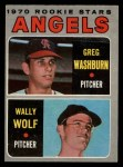 1970 O-Pee-Chee #74   -  Greg Washburn / Wally Wolf Angels Rookies Front Thumbnail
