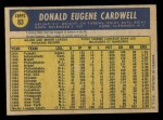 1970 O-Pee-Chee #83  Don Cardwell  Back Thumbnail